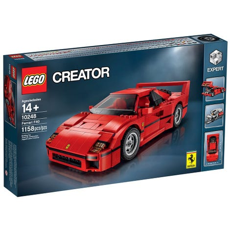Illustration for article titled Amazon.ca has the Lego F40 and Caterham on sale.