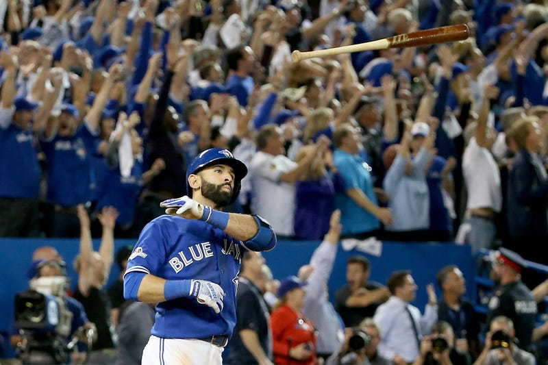 Illustration for article titled Jose Bautista's Righteous Bat Flip Is The Only Thing That Matters