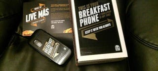 """Illustration for article titled Taco Bell's """"Breakfast Phone"""" Comes With Free Tacos, Angry Creditors"""