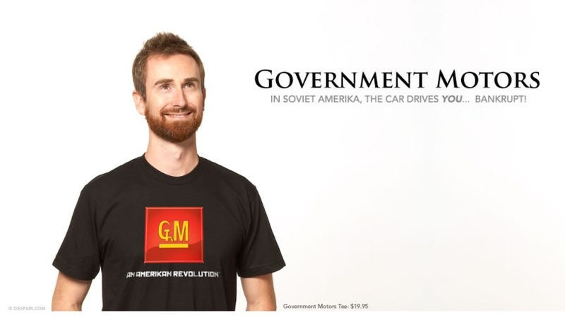 Illustration for article titled In Soviet America, Bankruptcy Drives New Government Motors T-Shirt!