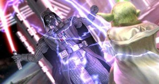 Illustration for article titled First Official SCIV Yoda/Darth Vader Fighting Screens