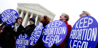 Pro-choice supporters in Washington, D.C., in Jan. 2010 (Mark Wilson/Getty Images)