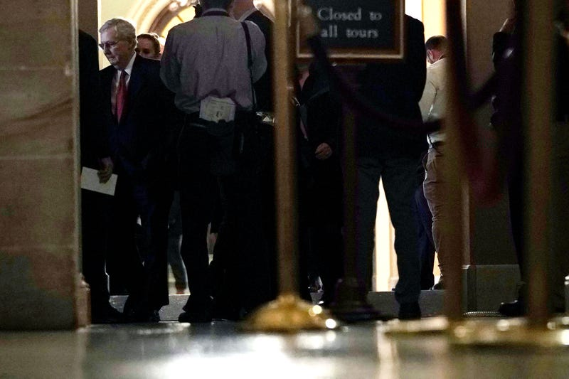 Senate Majority Leader Sen. Mitch McConnell (R-KY) walks back to his office from the Senate chamber after voting January 24, 2019 at the U.S. Capitol in Washington, DC. The Senate has failed to pass two procedural votes, one proposed by Republicans and the other proposed by the Democrats, to re-open the government.