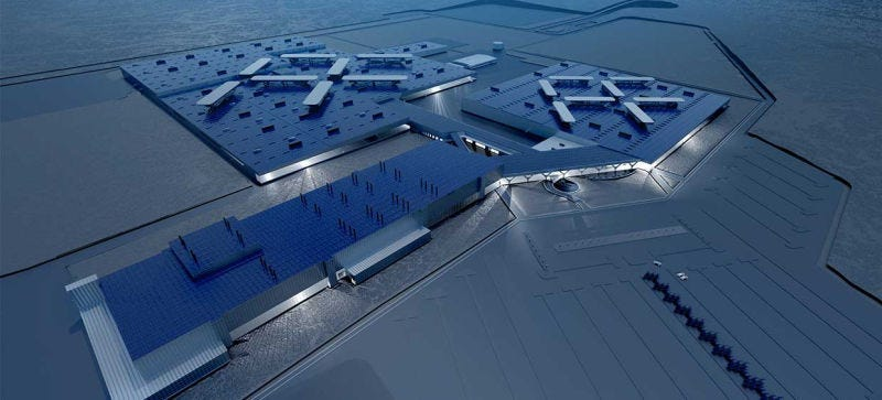 A rendering of what Faraday Future's billion-dollar North Las Vegas factory should look like. Photo: Faraday Future