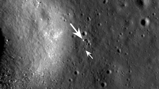 Illustration for article titled NASA snaps a pic of China's Yutu Rover from 93 miles overhead