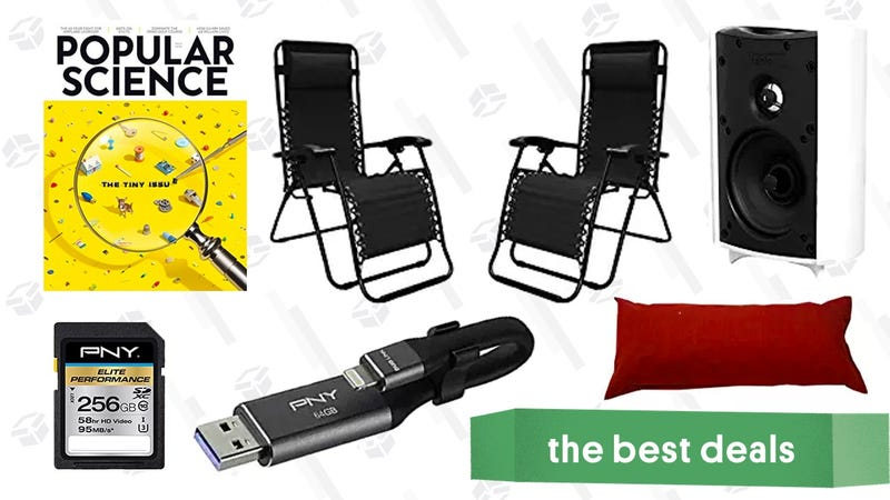 Illustration for article titled Saturday's Best Deals: MicroSD Cards, Speaker Sale, Patio Furniture, and More