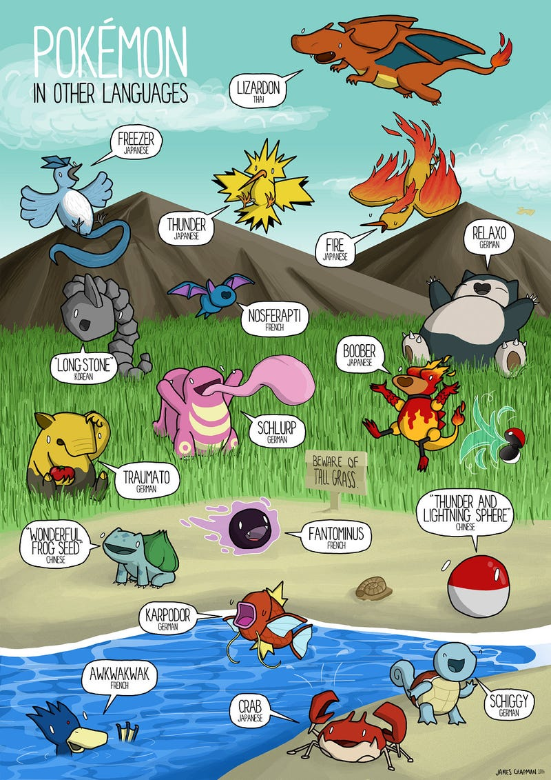 Illustration for article titled How Pokemon Say Their Names In Other Languages