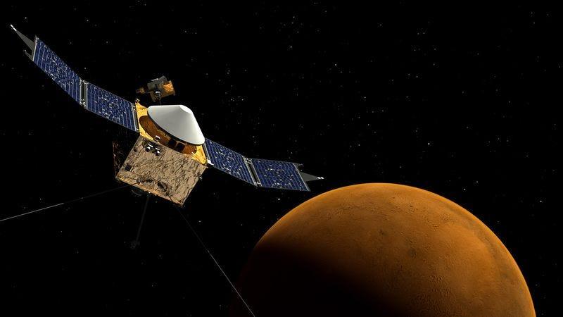 Illustration for article titled Mars Maven Begins Mission To Take Thousands Of High-Resolution Desktop Backgrounds