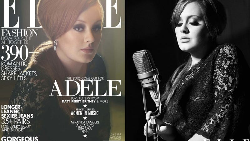Illustration for article titled Adele Is Rich as Balls and On the Cover of Elle
