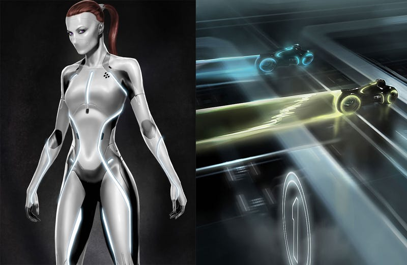 Illustration for article titled The motherlode of Tron Legacy concept art and high-res stills!