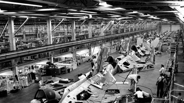 The Opposite Of Assembly : Building it military aircraft assembly lines