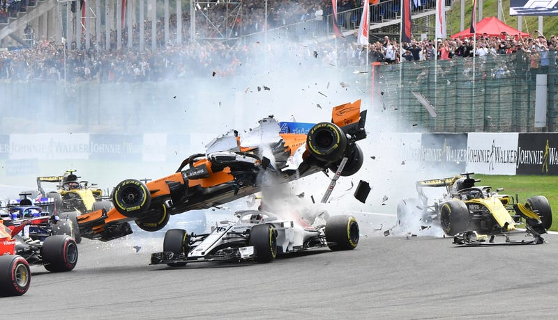 Illustration for article titled F1 Halo Praised for Protecting Charles Leclerc's Head in Scary First-Lap Crash