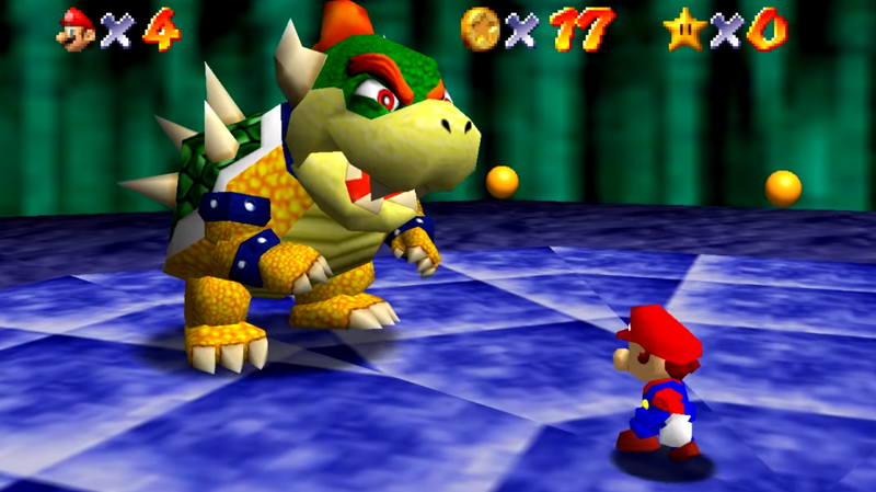 Illustration for article titled Man Beats Mario 64's First Bowser Fight Without Using The Control Stick
