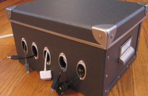 build a cord and charger organizer rh lifehacker com cord organizer box Wire Desk Organizer