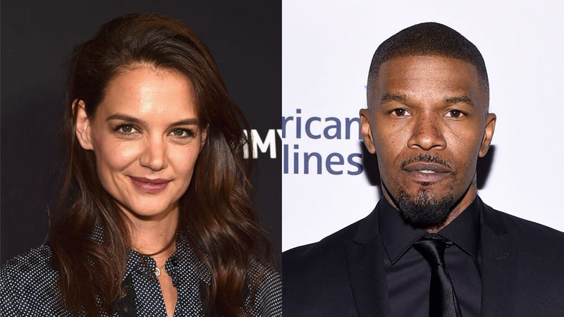 Illustration for article titled RHOA's Claudia Jordan Confirms Jamie Foxx Is Dating Katie Holmes, Says He's 'Very Happy With Her'