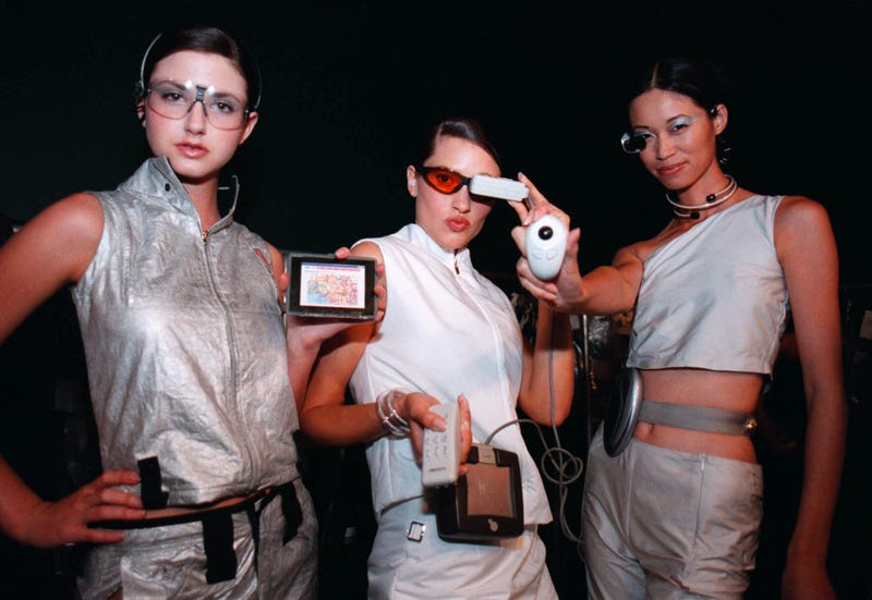 Futuristic fashion as depicted in a photo from the year 2000 (AP Photo/Dawn Villella)