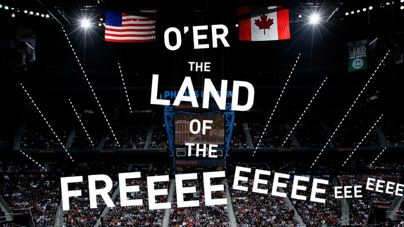 Illustration for article titled I Sang Two National Anthems At An NBA Game And Did Not Start A War