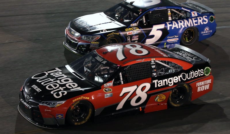 The No. 78 of Martin Truex Jr. was the most recent recipient of NASCAR's most toothless penalty for failing the post-race laser inspection. Photo credit: Sean Gardner/Getty Images