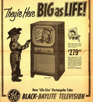 Illustration for article titled Rear Projection TVs Only Selling When Super Sized
