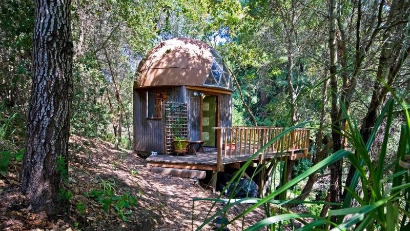 Illustration for article titled Esta diminuta cabaña de un bosque de California es la casa más popular en Airbnb