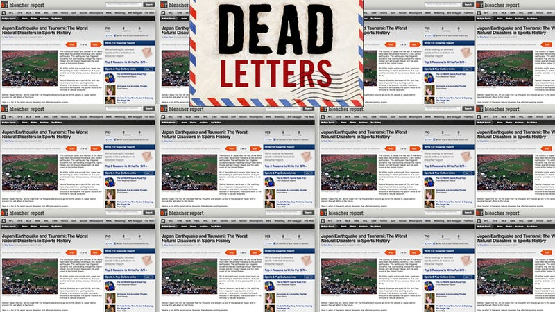 Illustration for article titled Dead Letters: A Special Message From The Founder Of Bleacher Report