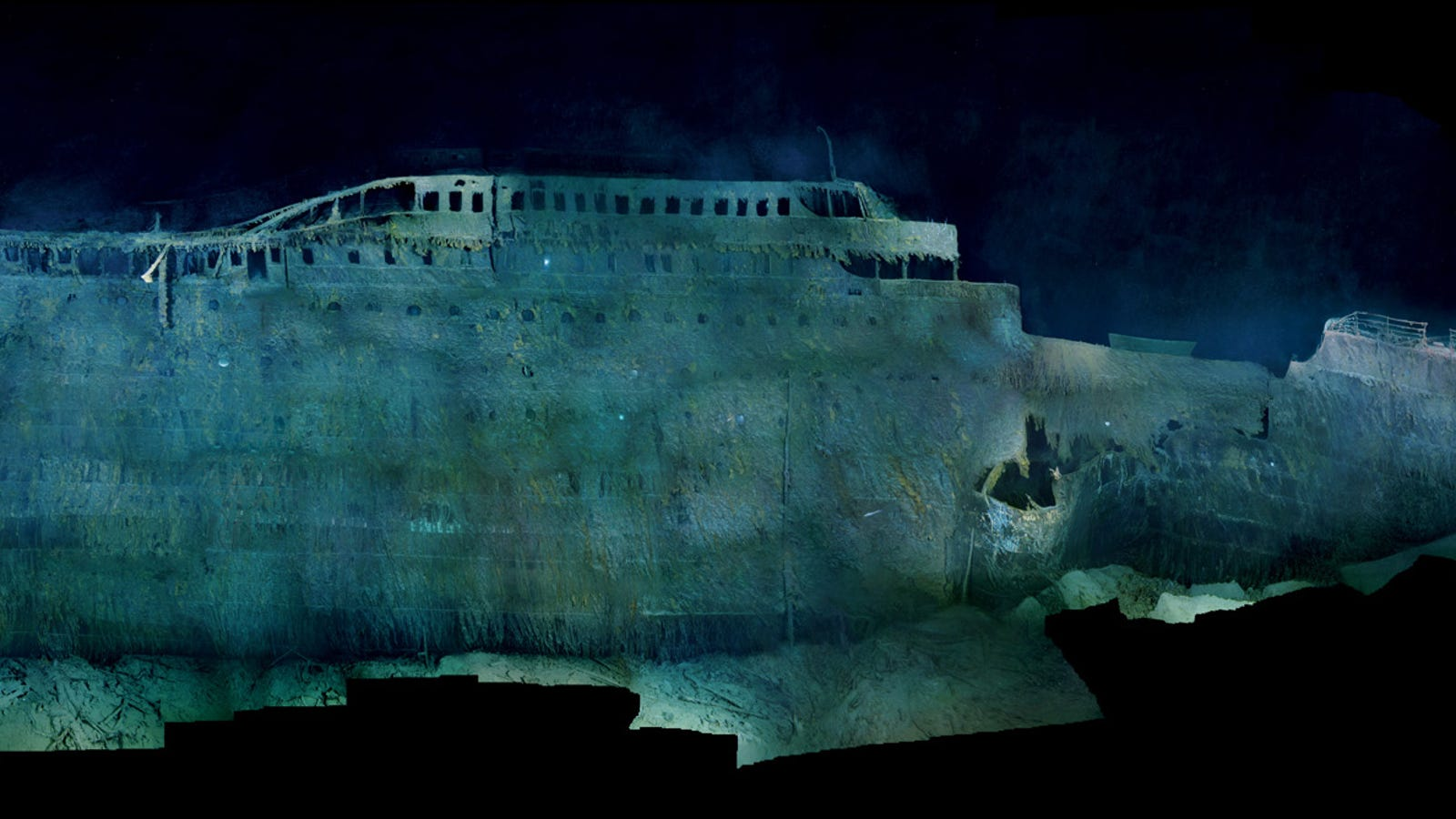 First High Resolution Images Of The Wreck Of The Titanic