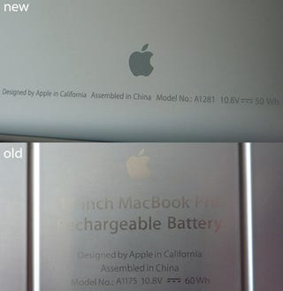 Illustration for article titled New MacBook Pro Battery Has Less Battery Power Than Old One