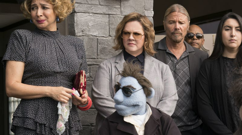Maya Rudolph and Melissa McCarthy are just two humans in the R-rated puppet film The Happytime Murders.