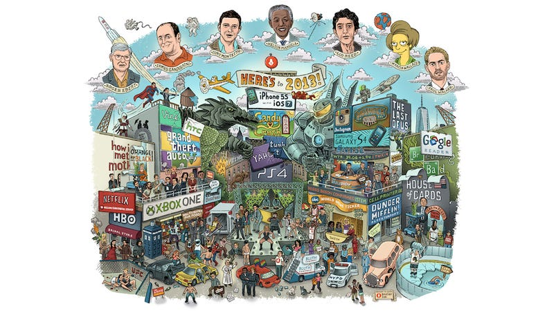 Illustration for article titled Here is all of 2013 summed up in one super clever drawing