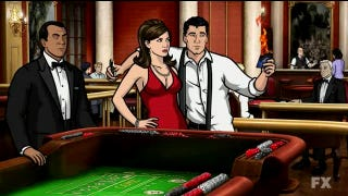 Illustration for article titled Archer is trapped in a Canadian casino and Hawkeye co-stars on Ultimate Spider-Man