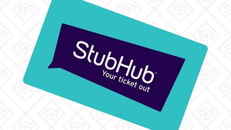 $115 StubHub Gift Card, $100