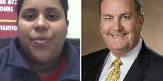 Nancy Salgado (The Real News screenshot); Jeff Stratton (courtesy of McDonald's)