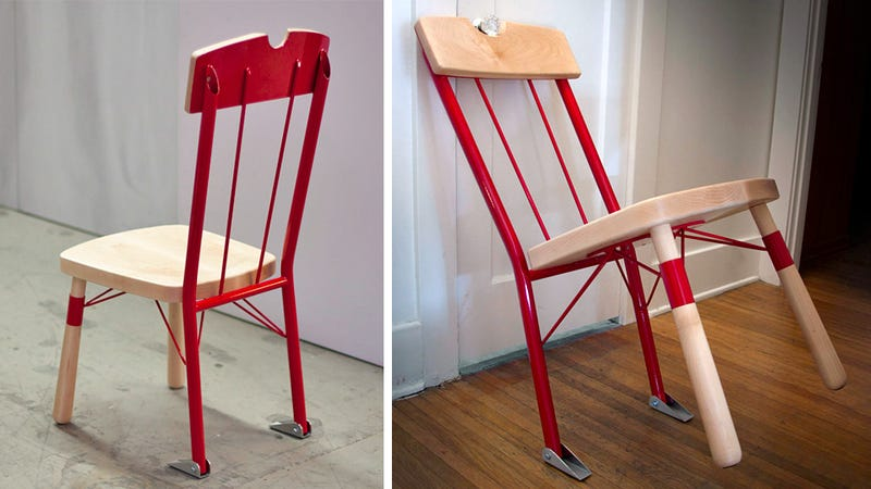 Illustration for article titled Door Jamming Chair Works Just Like In the Movies