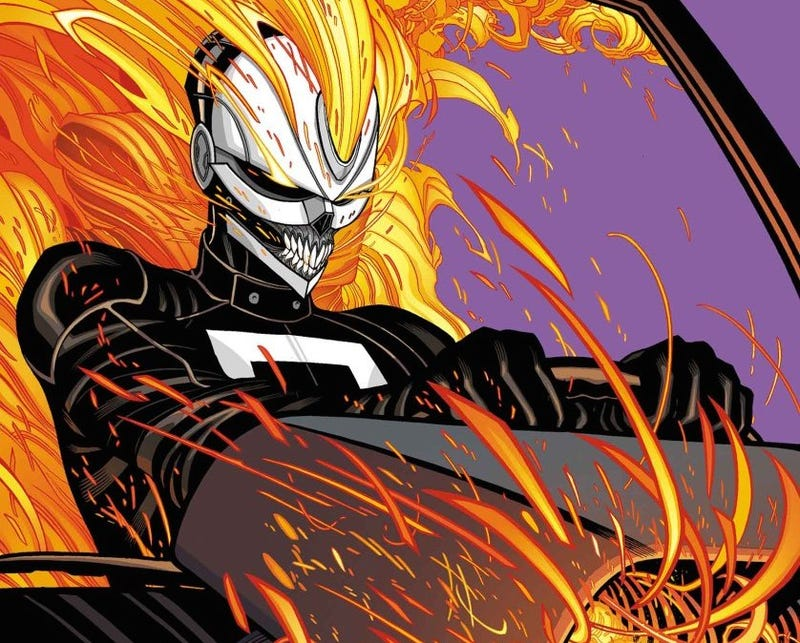Illustration for article titled ​The All-New Ghost Rider Has A Need For Speed And A Need For Vengeance
