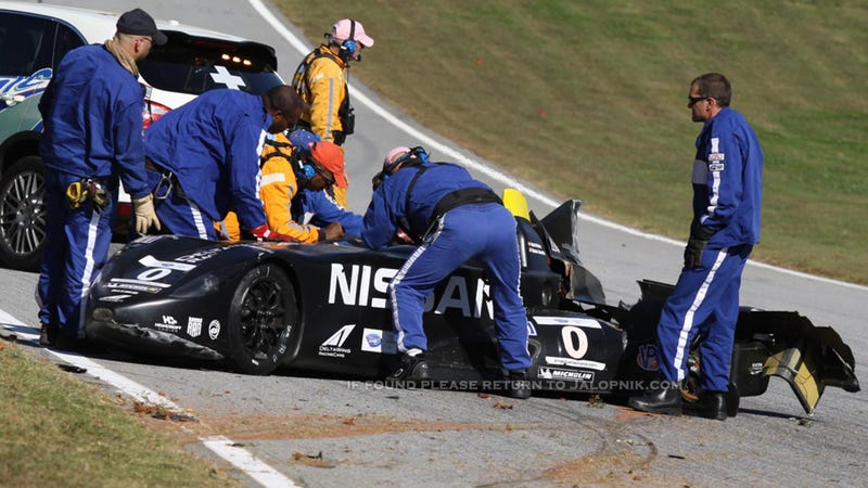 Illustration for article titled The World's Strangest Racecar Just Crashed, Again (UPDATE)