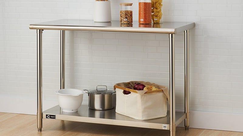 Trinity EcoStorage Stainless Steel Table, $88