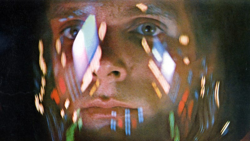 David Bowman (Keir Dullea) in an iconic sequence in Stanley Kubrick's 2001: A Space Odyssey.
