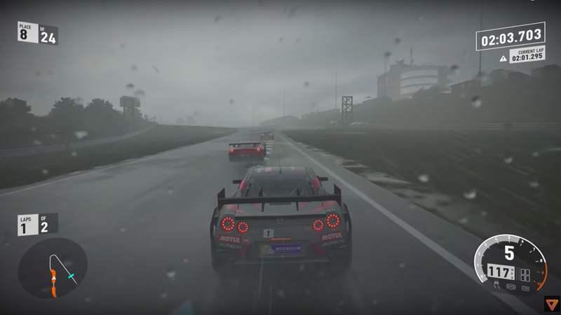 Illustration for article titled This Forza 7 Gameplay In 4K Is So Realistic My Face Stings From The Rain