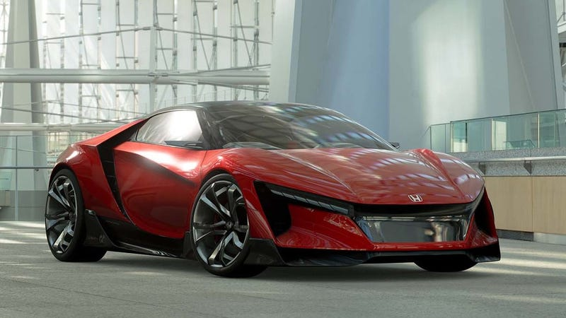Illustration for article titled Honda's 'Baby NSX' Finally Shows Up As A Gran Turismo Car You Can't Own