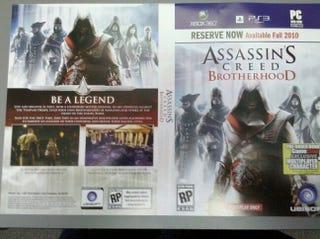 Illustration for article titled GameStop Placeholder Art Names Assassin's Creed: Brotherhood - Update