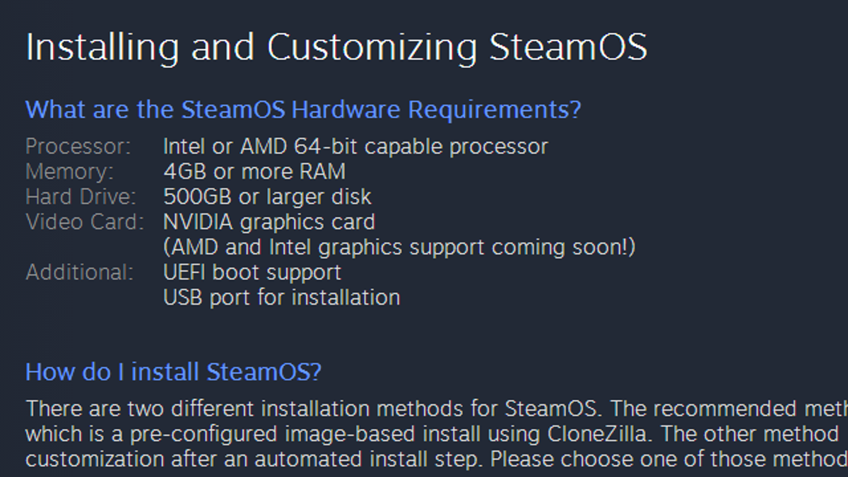 How to Install the SteamOS Beta on Your Computer