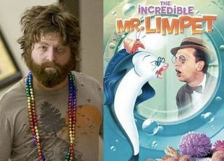 Illustration for article titled Zach Galifianakis might play a Nazi-fighting cartoon fish