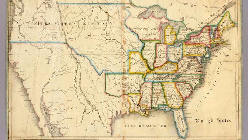 Illustration for article titled Hand-drawn maps made by 19th-century school children