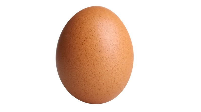 Illustration for article titled Egg photo officially more popular on Instagram than Kylie Jenner