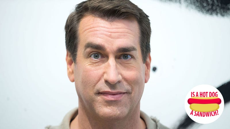 Illustration for article titled Hey Rob Riggle, is a hot dog a sandwich?