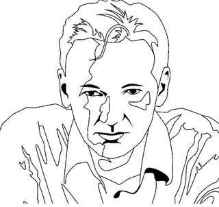 Illustration for article titled The Julian Assange Coloring Book Begs You To Deface Him