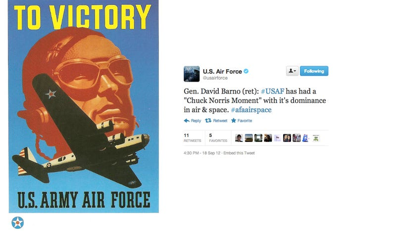 Illustration for article titled Why Does The United States Air Force Have The Weirdest Twitter On Earth?