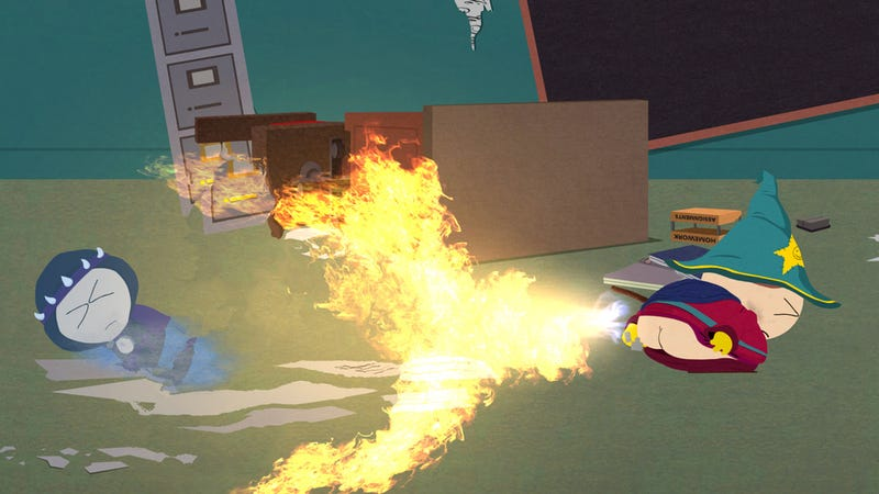 Illustration for article titled South Park's Main Fight Move Is Appropriately Juvenile