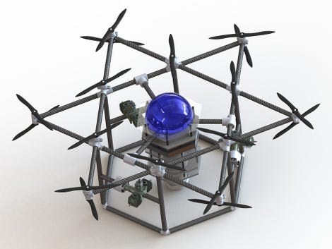 Conceptual image of Blue Devil Ocean Engineering's heavy UAV. (Image: Duke/Blue Devil Ocean Engineering)