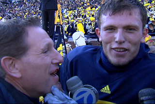 Illustration for article titled Michigan QB Tate Forcier Tries To Kill Reporter Moments Before Post-Game Interview